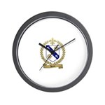 RIOUX Family Crest Wall Clock