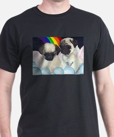Pug Angels Black T-Shirt