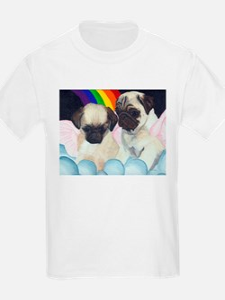 Pug Angels Kids T-Shirt