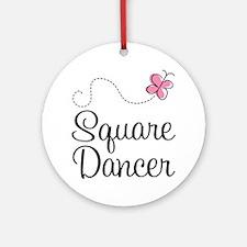Cute Square Dancer Ornament (Round)