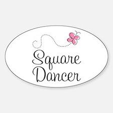 Cute Square Dancer Decal