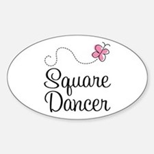 Cute Square Dancer Sticker (Oval)