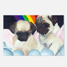 Pug Angels Postcards (Package of 8)