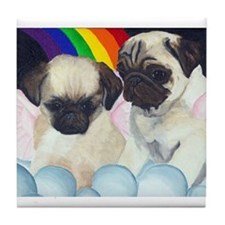 Pug Angels Tile Coaster