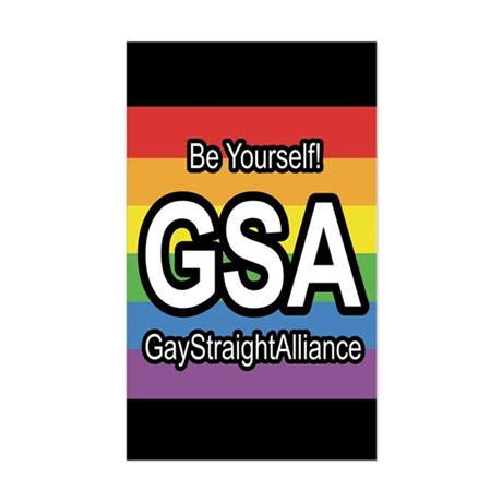 GSA 3x5 Be Yourself Sticker