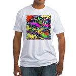 POW WOW ZAM Fitted T-Shirt