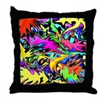 POW WOW ZAM Throw Pillow