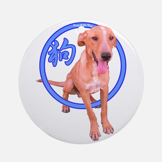 Cute Dog Ch Ornament (Round)