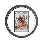 Britannia Friends Poster Art Wall Clock