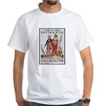 Britannia Friends Poster Art (Front) White T-Shirt