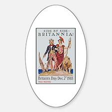 Britannia Friends Poster Art Oval Decal