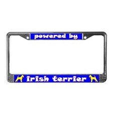 Powered by Irish Terrier License Plate Frame