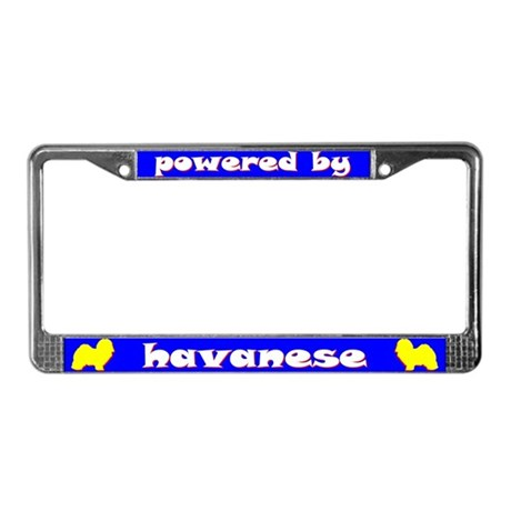 Powered by Havanese License Plate Frame
