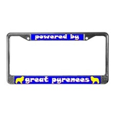 Powered by Great Pyrenees License Plate Frame