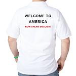 Speak English Golf Shirt (back)
