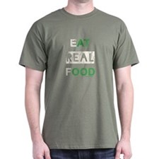 Eat real food distressed T-Shirt