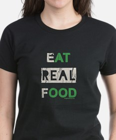 Eat real food distressed Tee
