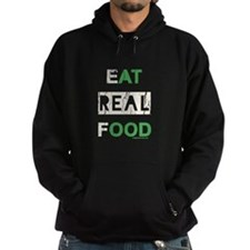 Eat real food distressed Hoodie