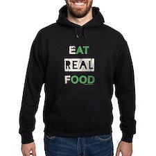 Eat real food distressed Hoody