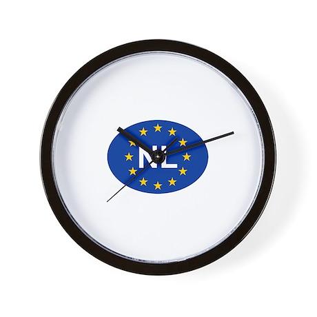 EU Netherlands Wall Clock
