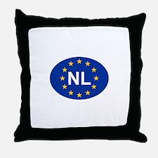 EU Netherlands Throw Pillow