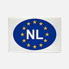 EU Netherlands Rectangle Magnet