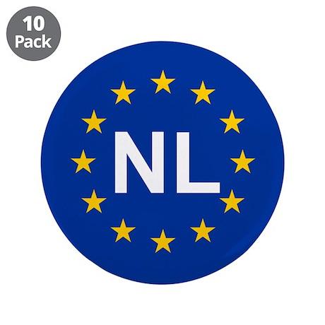 """EU Netherlands 3.5"""" Button (10 pack)"""