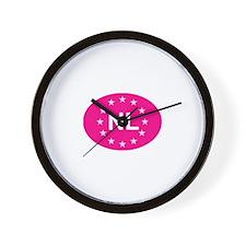 EU Pink Netherlands Wall Clock