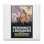 Pershing's Crusaders Poster Art Tile Coaster