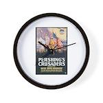 Pershing's Crusaders Poster Art Wall Clock