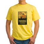 Pershing's Crusaders Poster Art (Front) Yellow T-S