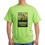 Pershing's Crusaders Poster Art Green T-Shirt