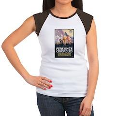 Pershing's Crusaders Poster Art Women's Cap Sleeve