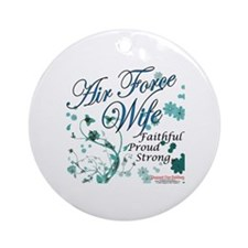 Air Force Wife Ornament (Round)