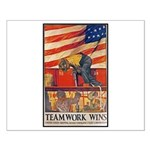 Teamwork Wins Poster Art Small Poster