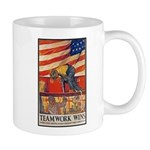 Teamwork Wins Poster Art Mug