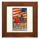 Teamwork Wins Poster Art Framed Tile