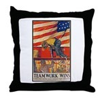 Teamwork Wins Poster Art Throw Pillow
