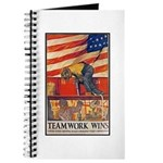 Teamwork Wins Poster Art Journal