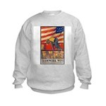 Teamwork Wins Poster Art (Front) Kids Sweatshirt