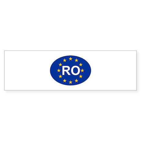 EU Romania Sticker (Bumper)
