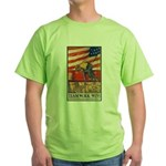 Teamwork Wins Poster Art Green T-Shirt