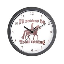 Riding Trails Wall Clock