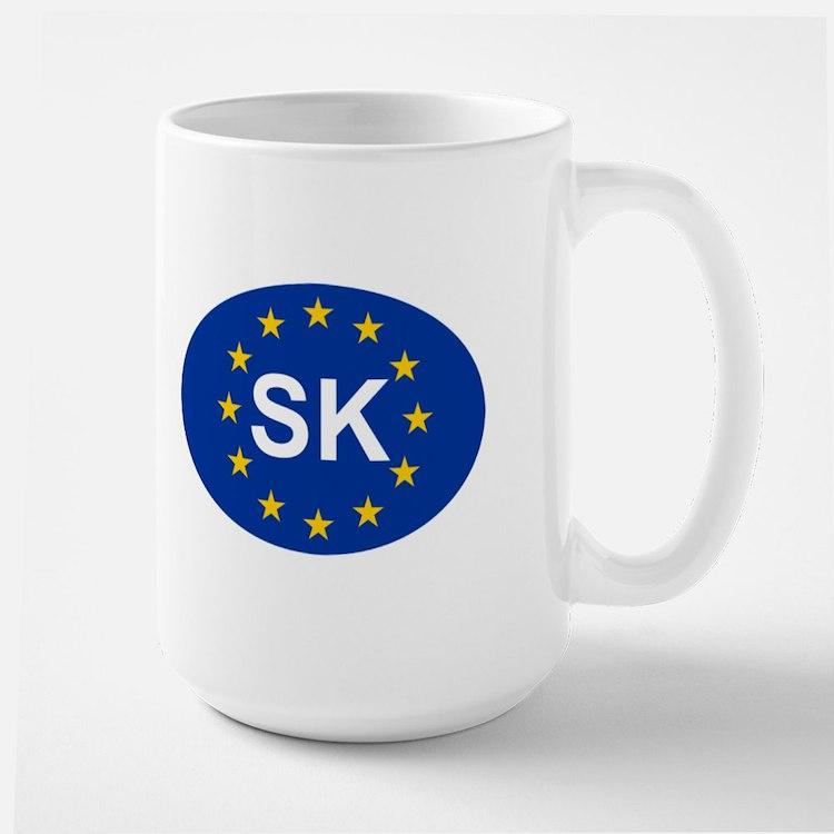 EU Slovakia Large Mug