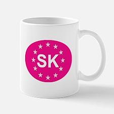 EU Pink Slovakia Mug