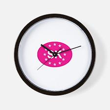 EU Pink Slovakia Wall Clock