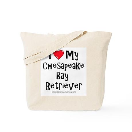 I Love My Chesapeake Bay Retr Tote Bag