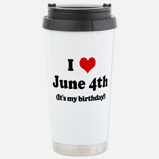 Cute 4th birthday Travel Mug