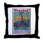 Careless Work Warning Poster Art Throw Pillow