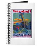 Careless Work Warning Poster Art Journal
